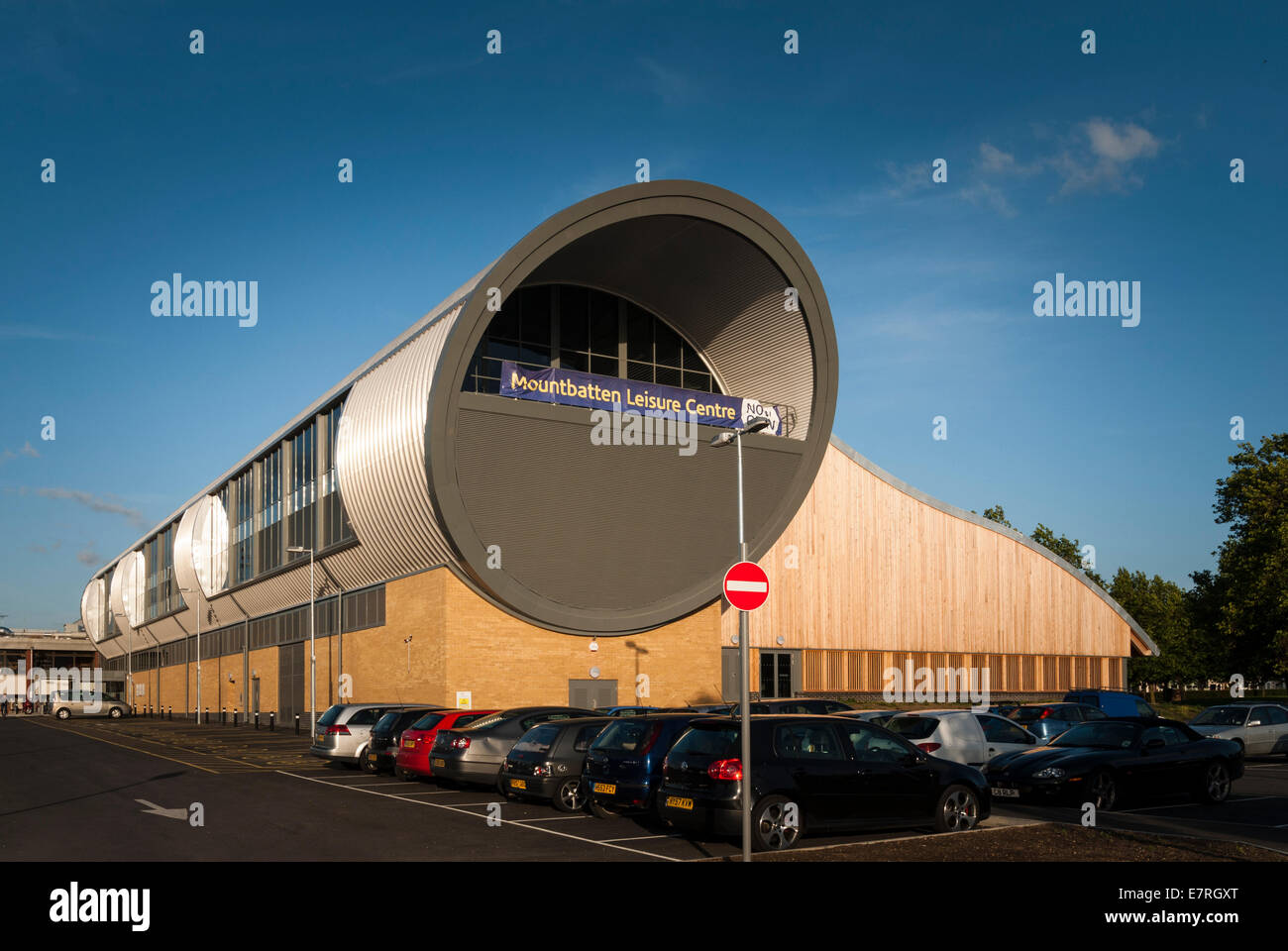 Exterior of Mountbatten leisure centre Portsmouth - Stock Image