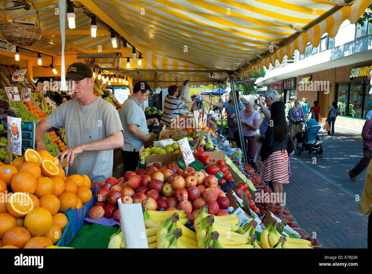 market stall fruit traders - Stock Image