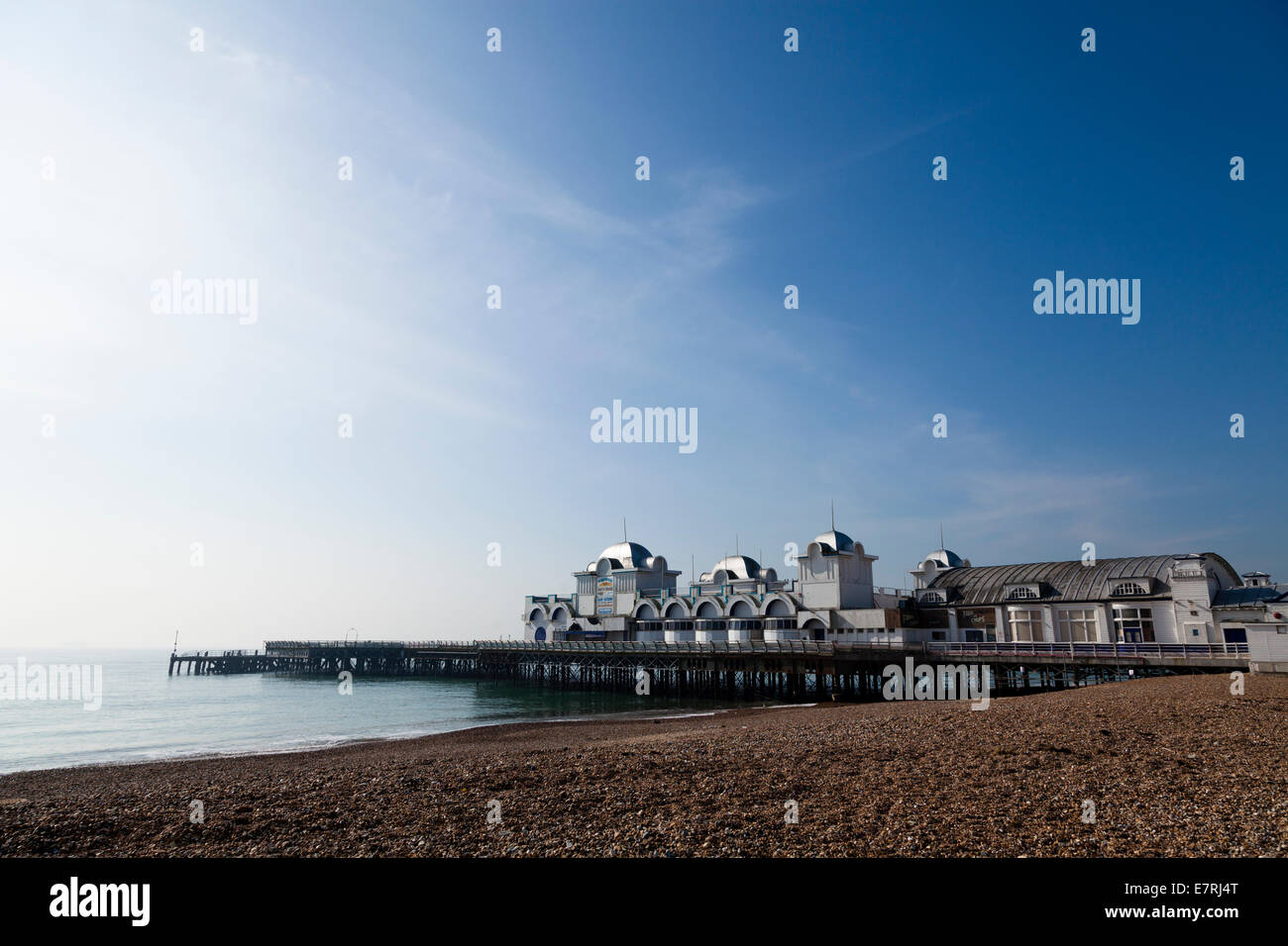 South Parade Pier at Southsea. Stock Photo