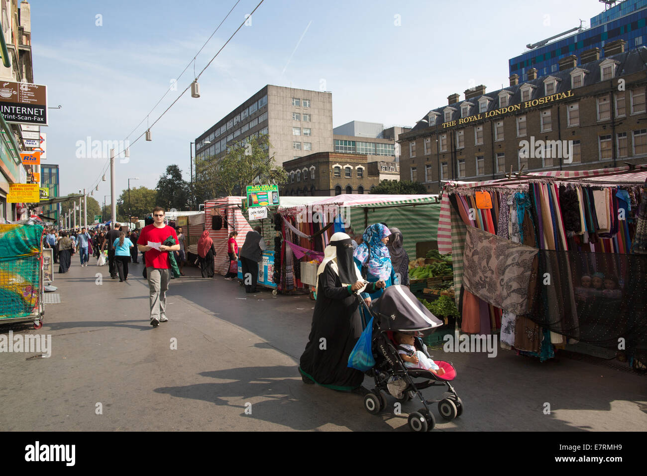 Islamic community, Whitechapel Road, East London, Tower Hamlets, London, England UK - Stock Image