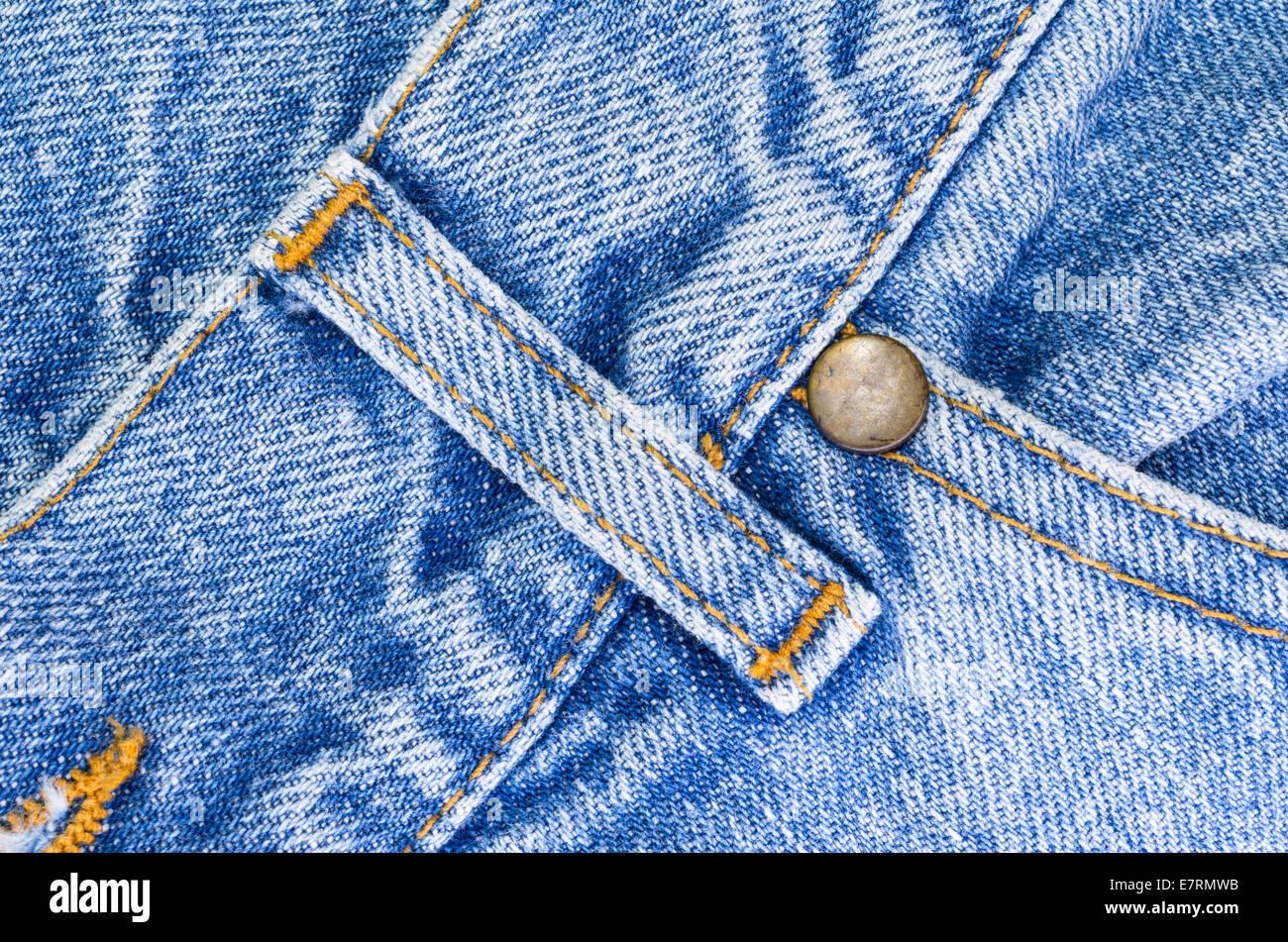jeans pants details - Stock Image