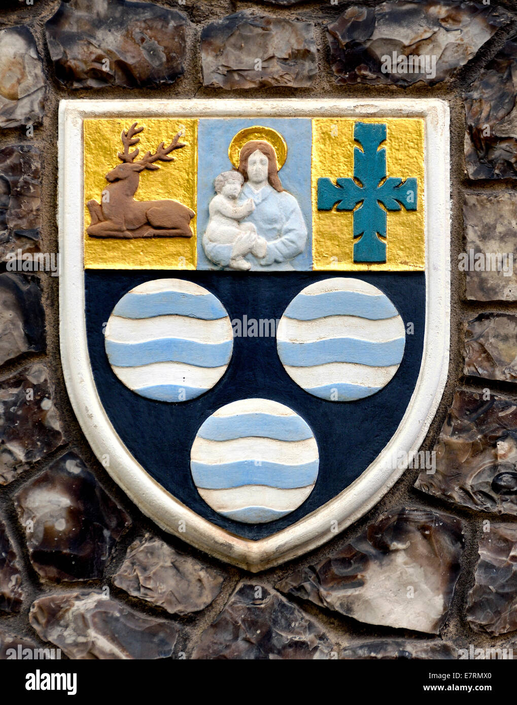 London, England, UK. Church House In Deans Yard, Westminster. Coat Of Arms  Set In The Outside Wall: Diocese Of Southwell
