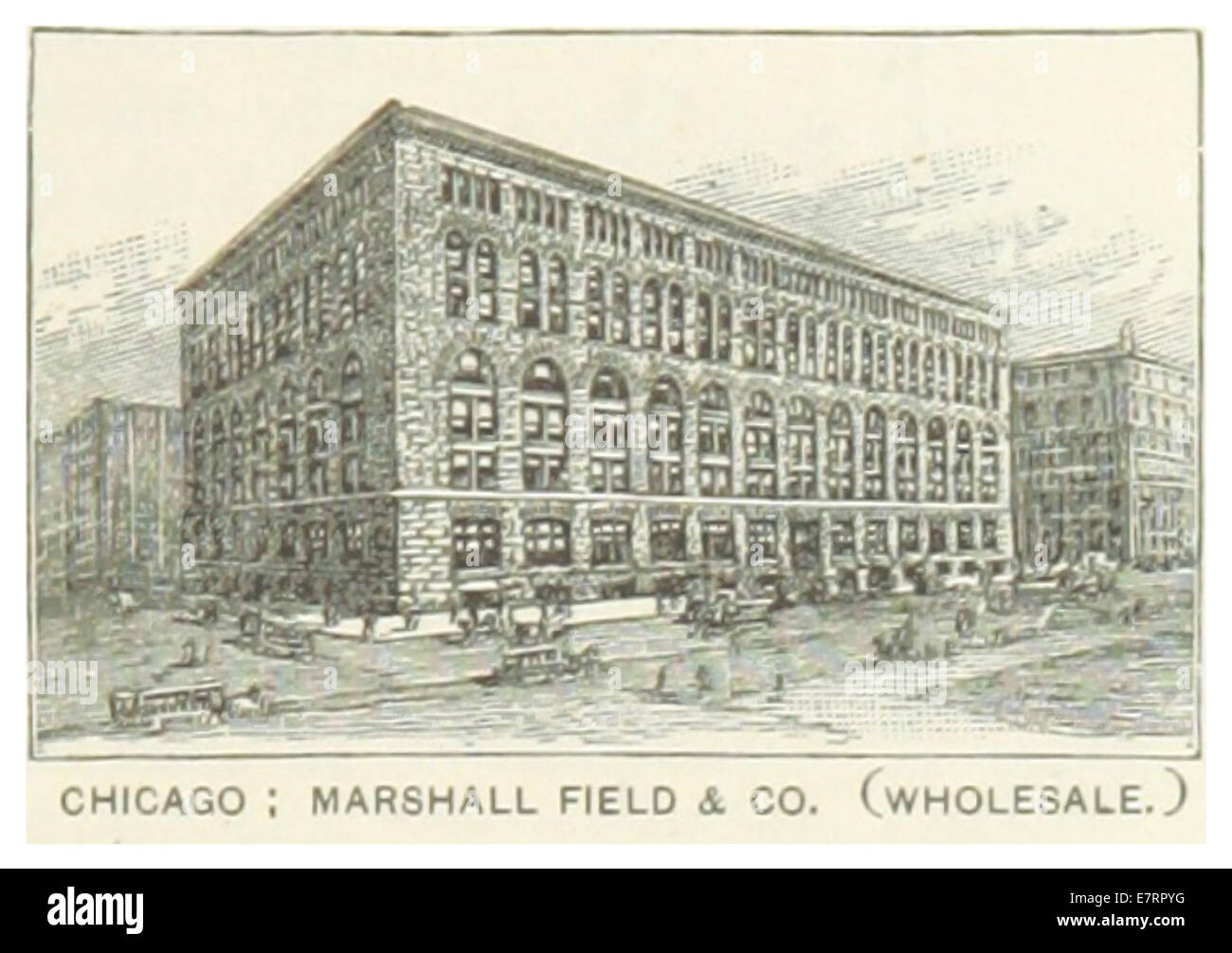 US-IL(1891) p229 CHICAGO, MARSHALL FIELD & COMPANY - Stock Image