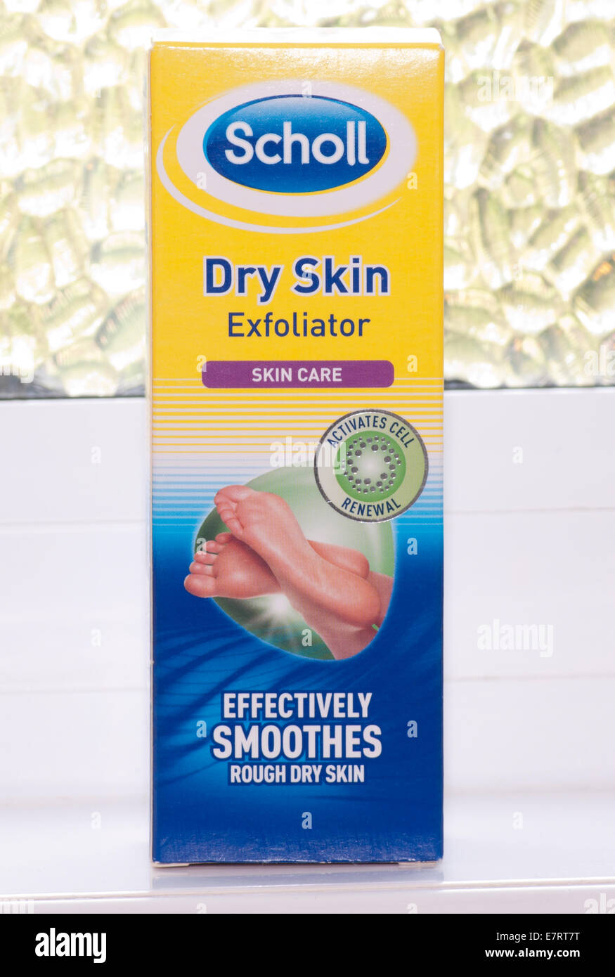 Scholl Dry Skin Exfoliator Skin care Products Stock Photo