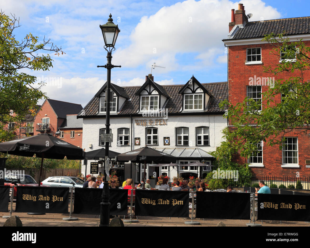 The Wig And Pen Public House In Norwich Norfolk England Stock