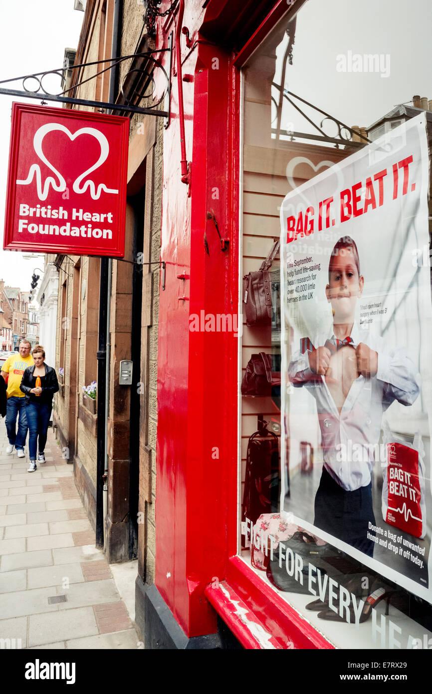 Exterior Of British Heart Foundation Charity Shop In North Berwick High  Street Scotland