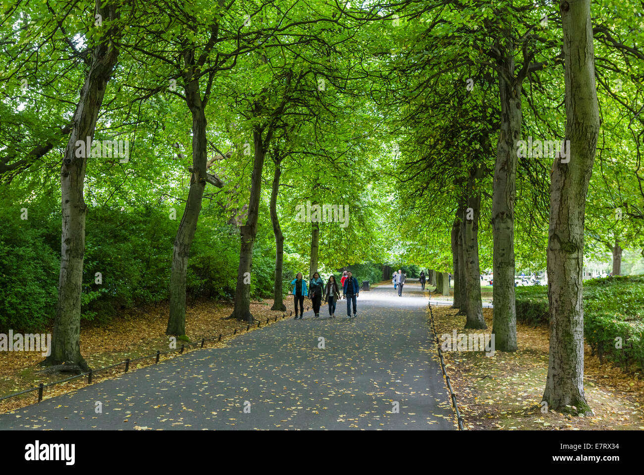 St Stephen's Green public park in the city centre, Dublin City, Republic of Ireland - Stock Image