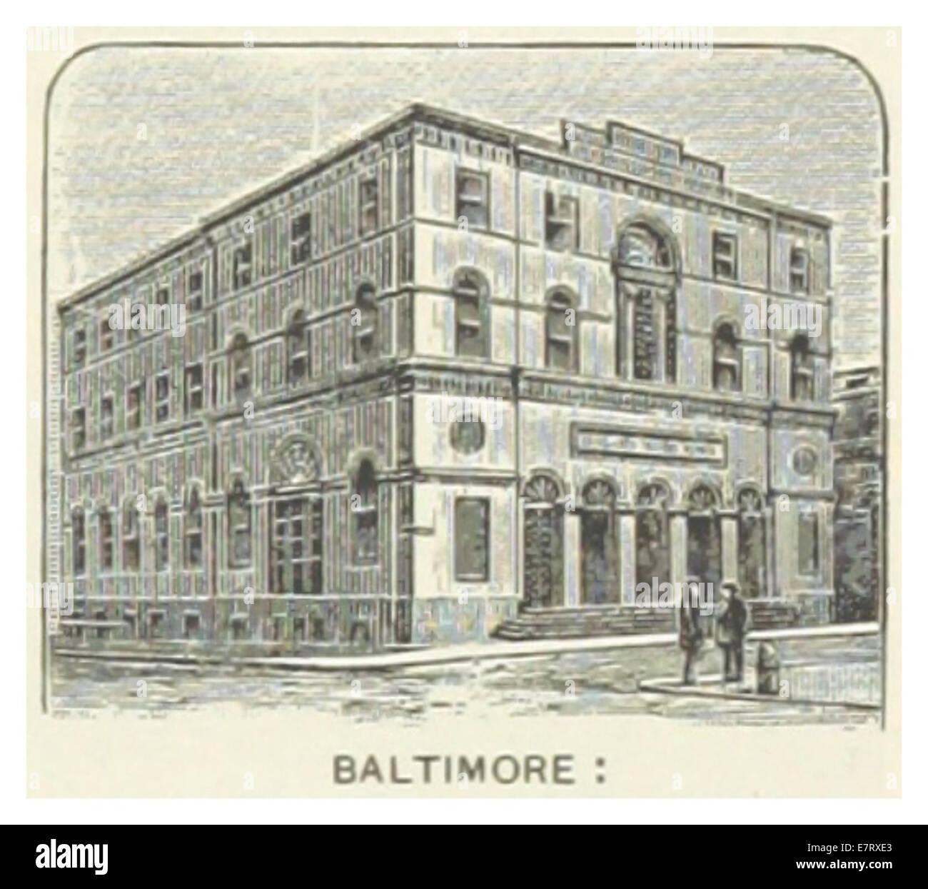 US-MD(1891) p337 BALTIMORE, MERCHANT'S NATIONAL BANK - Stock Image