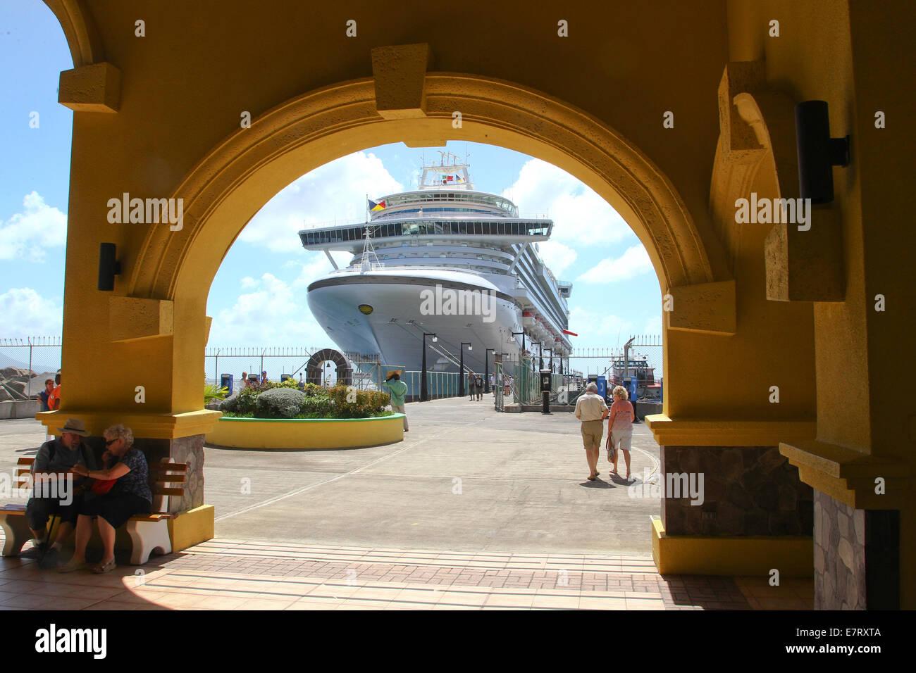 AZURA in port at St Maarten - Stock Image