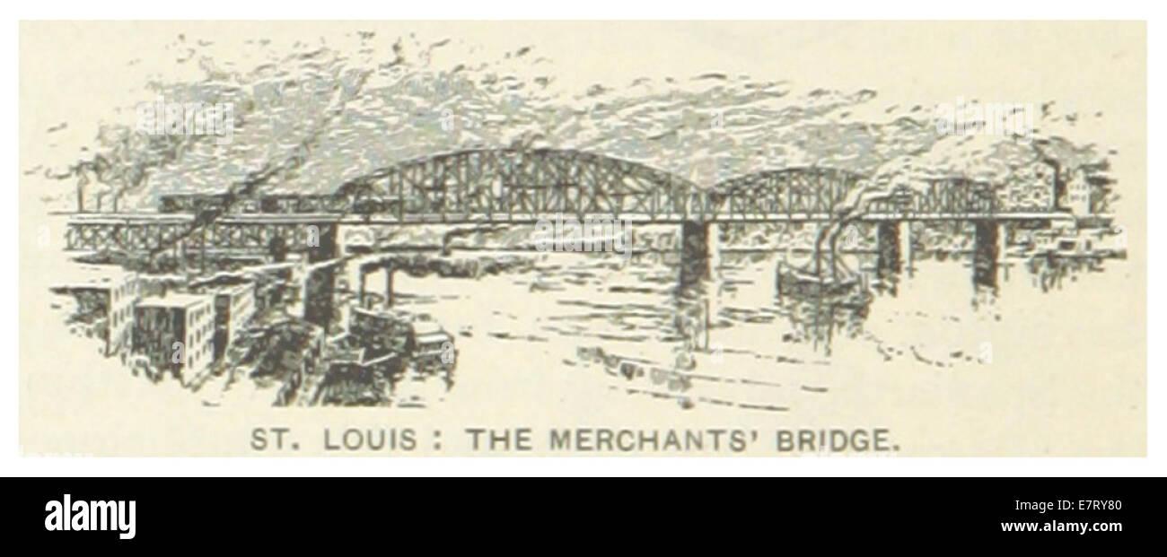 US-MO(1891) p446 ST. LOUIS, THE MERCHANTS BRIDGE - Stock Image