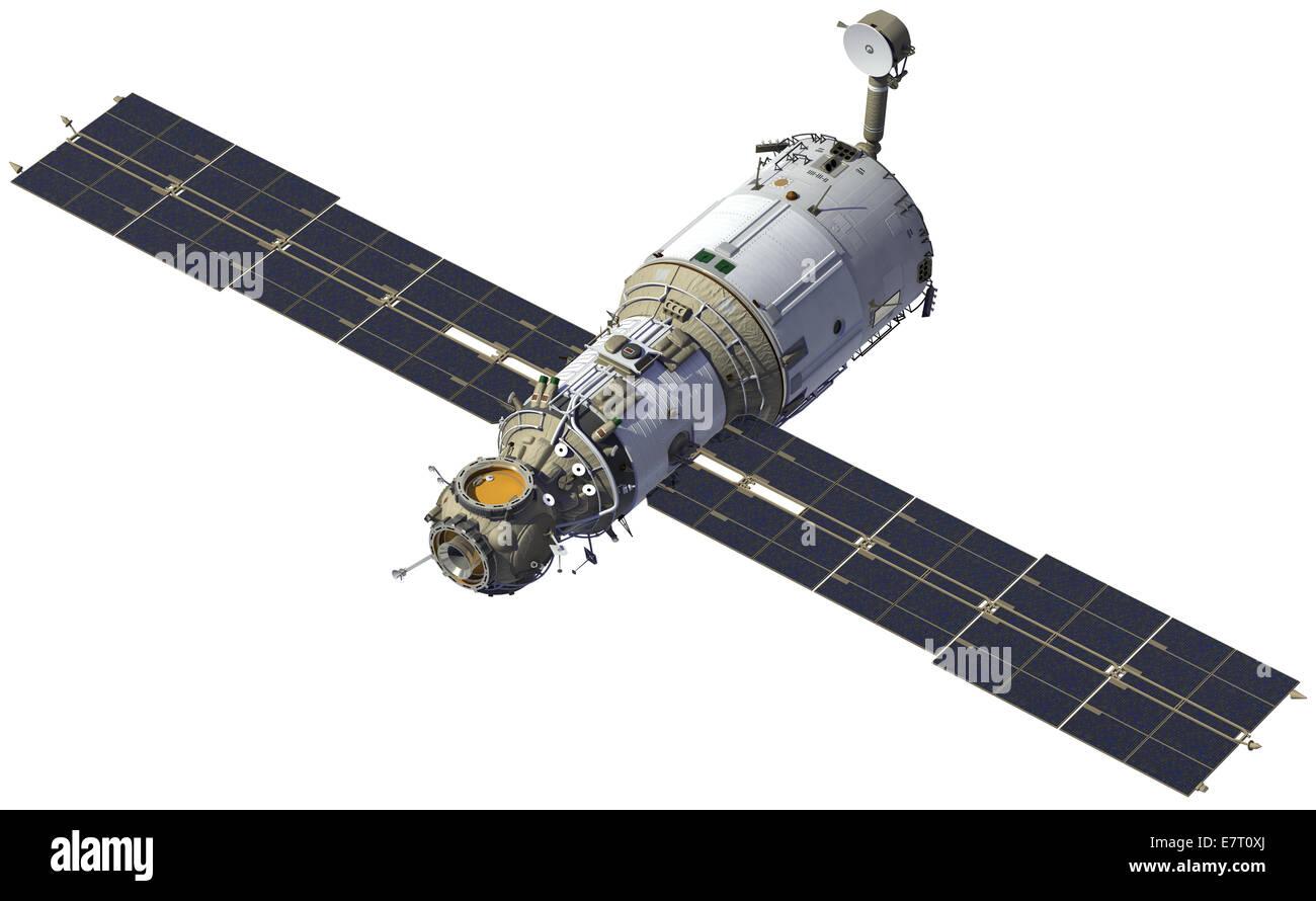 International Space Station. Module 'Zvezda'. 3D Model. - Stock Image