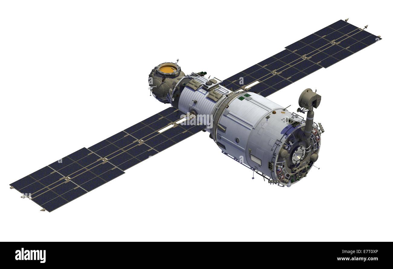 International Space Station. Module 'Zvezda' - Stock Image