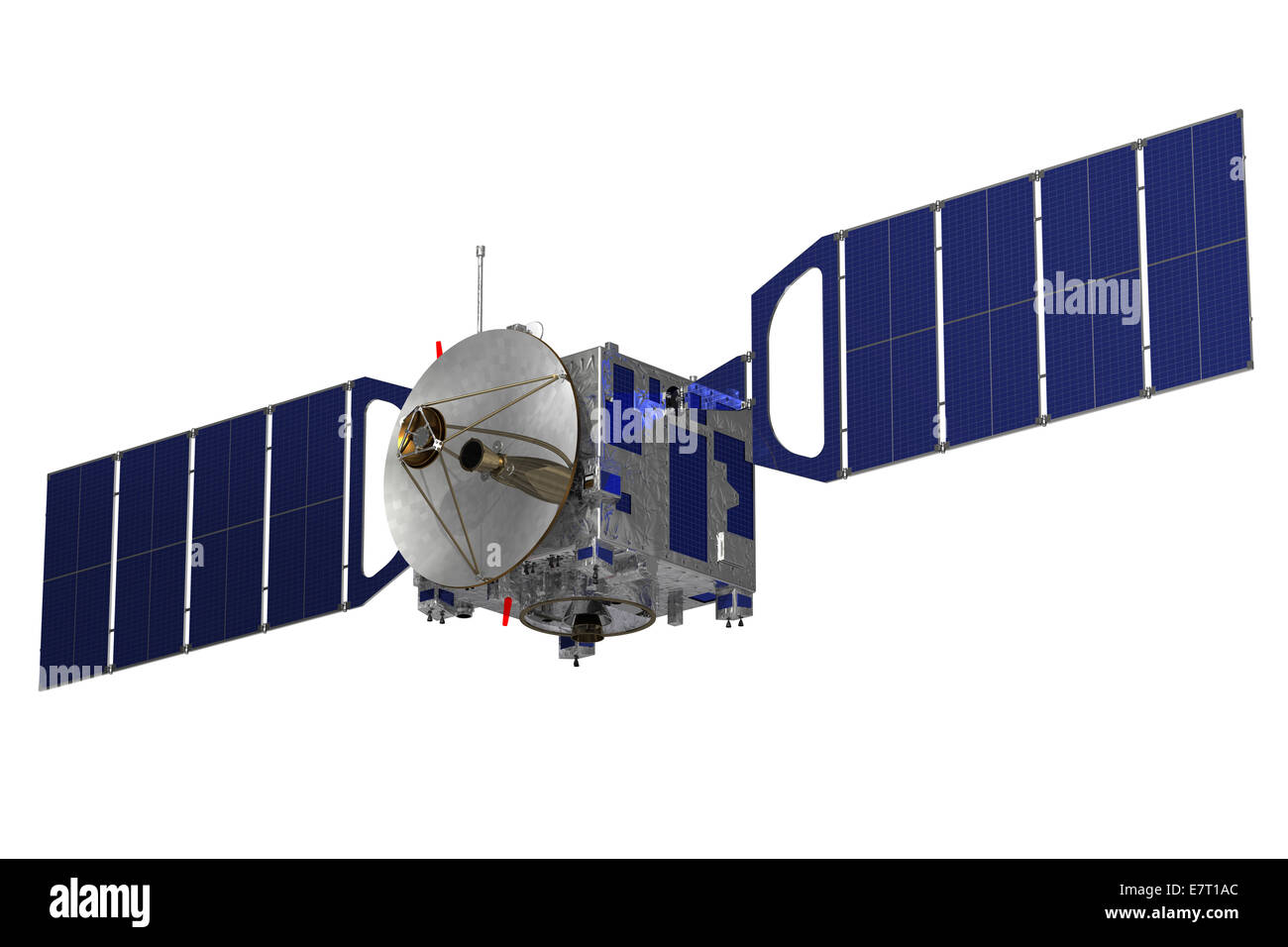 Satellite On A White Background. 3D Model. - Stock Image