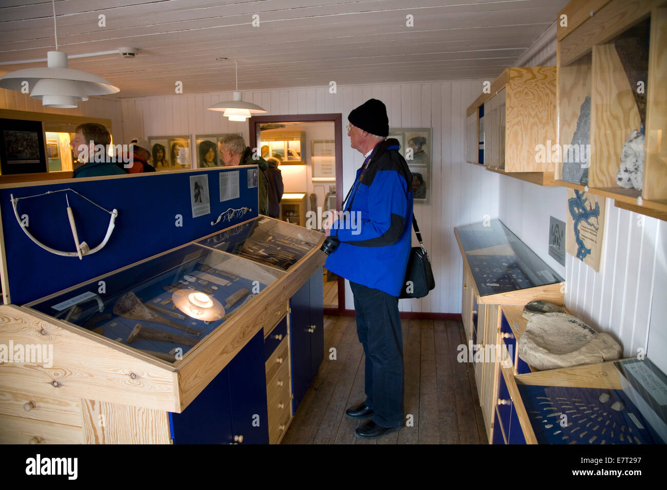 The Arctic explorer, Knud Rasmussen's home has been turned into a museum in Qaanaaq (or 'new Thule'), - Stock Image