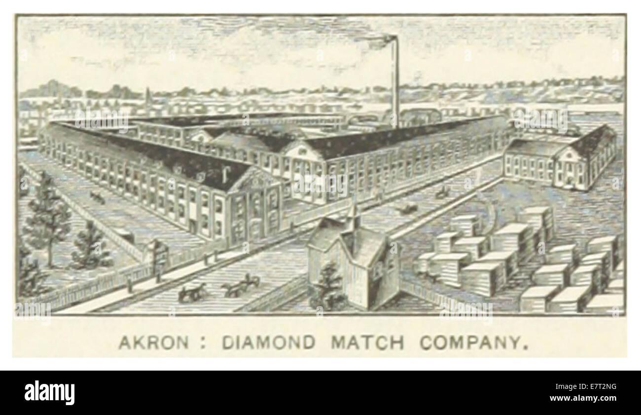 US-OH(1891) p687 AKRON, DIAMOND MATCH COMPANY - Stock Image
