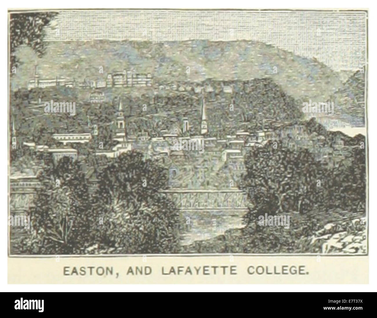 US-PA(1891) p737 EASTON AND LAFAYETTE COLLEGE - Stock Image