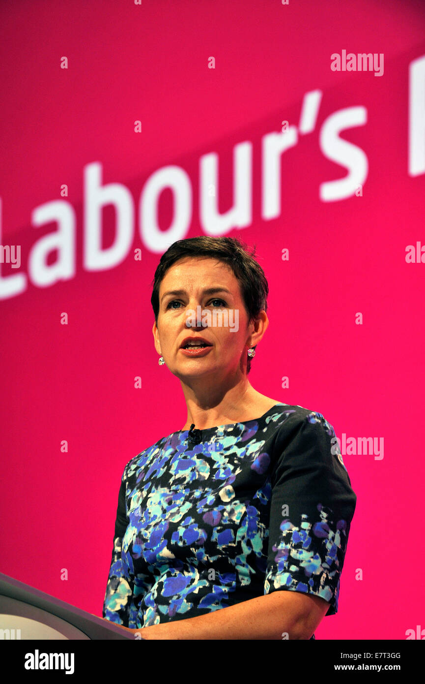Manchester, UK. 23rd Sep, 2014. Mary Creagh Shadow secretary of state for Transport speaking at the Labour Party - Stock Image