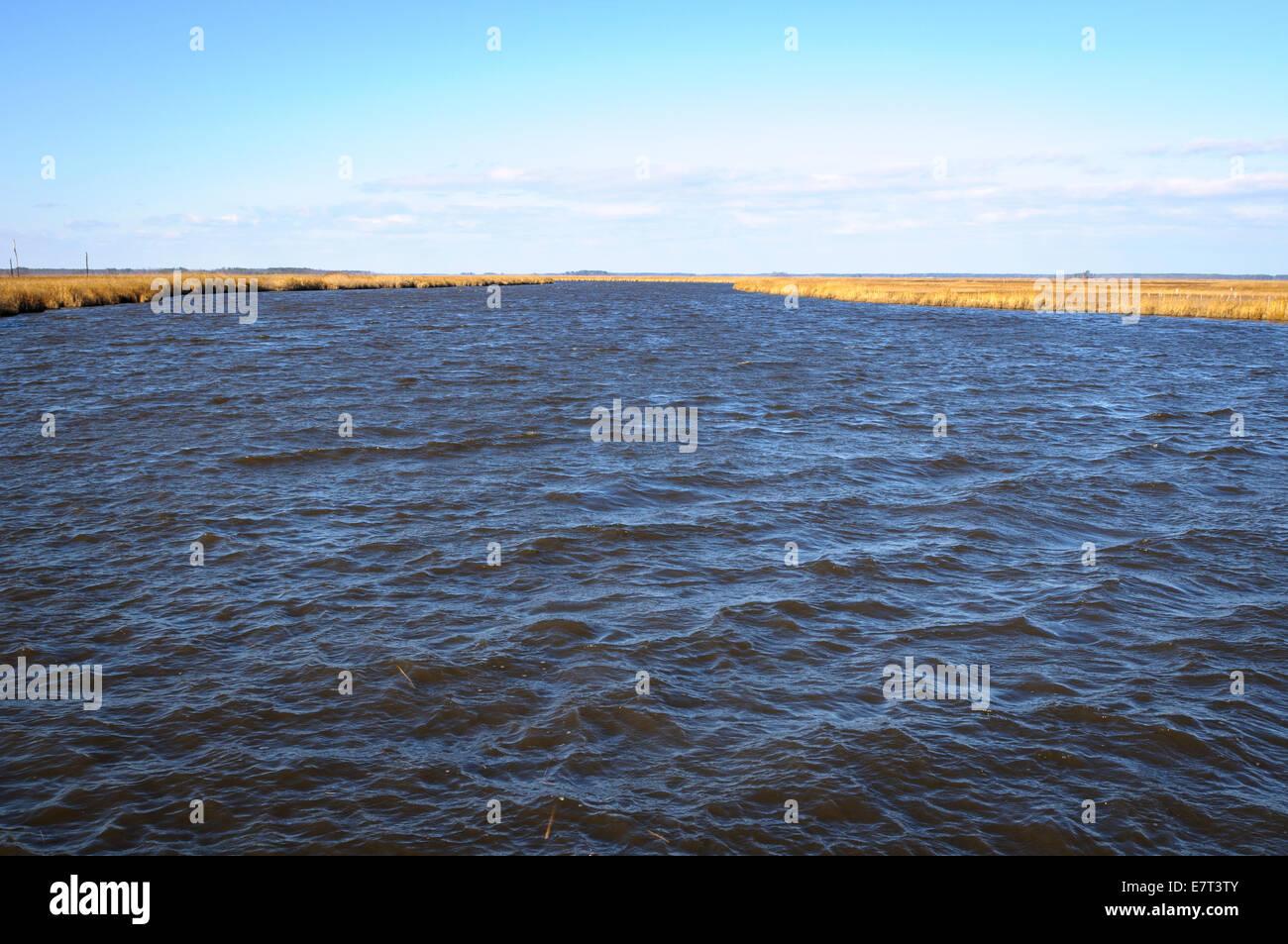 Blackwater River, Cambridge, Maryland - Stock Image