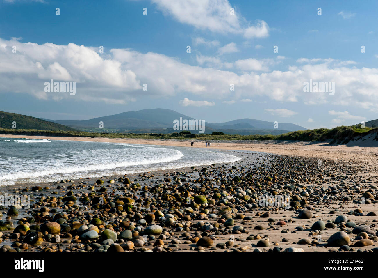 Tullagh Bay beach,Clonmany, Inishowen, County Donegal, Ireland, - Stock Image