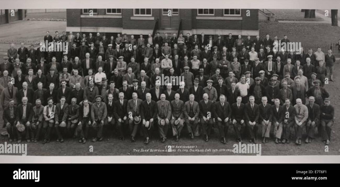 Bertram & Sons Co  Employees  75th Anniversary 14007265918 o Stock Photo