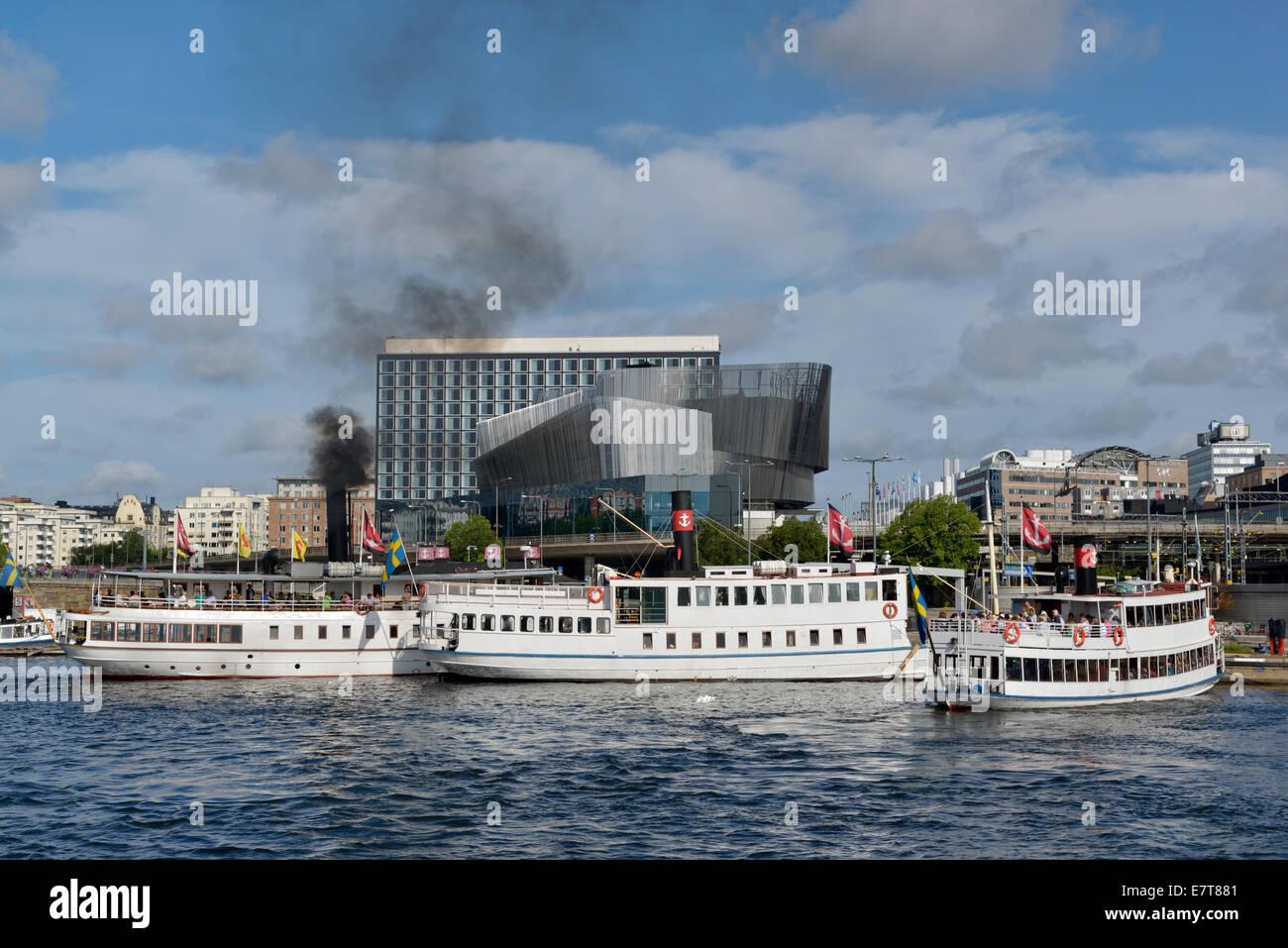 Stockholm Waterfront,  Stockholm, Sweden 140810_61872 - Stock Image