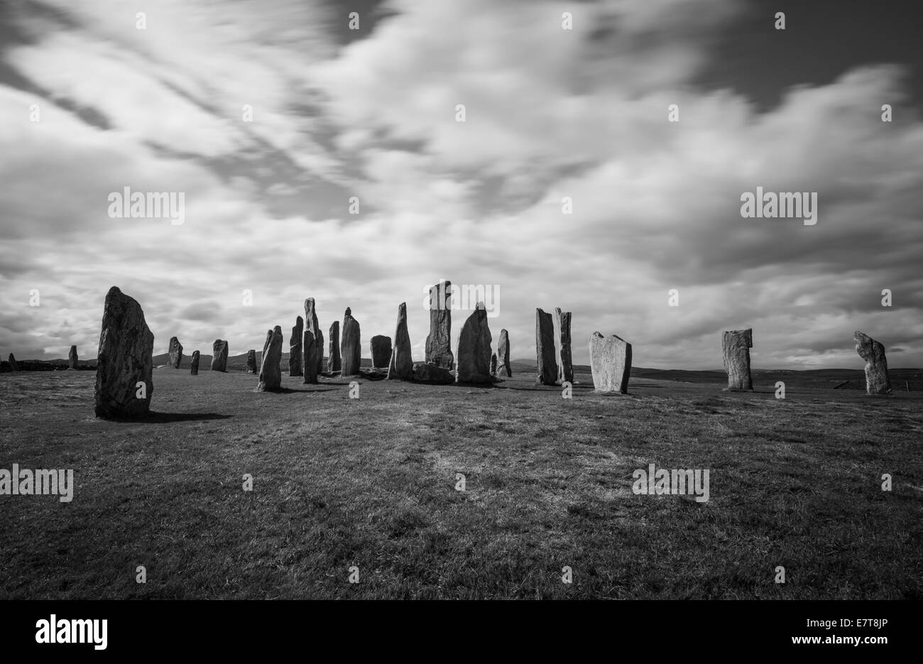 Standing stones at Callanish, Isle of Lewis, Outer Hebrides, Scotland - Stock Image
