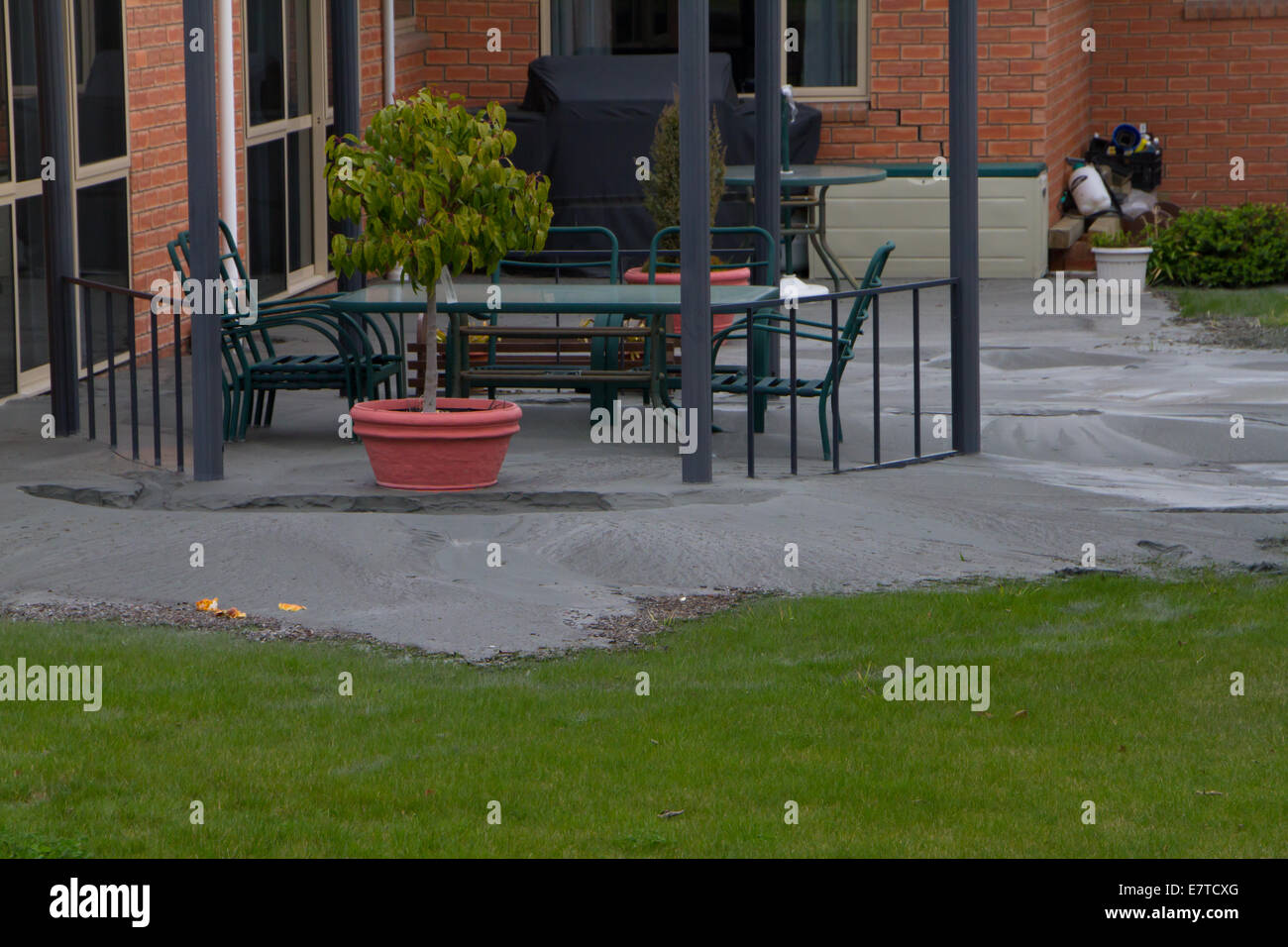 Earthquake Damage around Kaiapoi, just north of Christchurch, New Zealand, 7.1 magnitude, 4th September 2010 - Stock Image