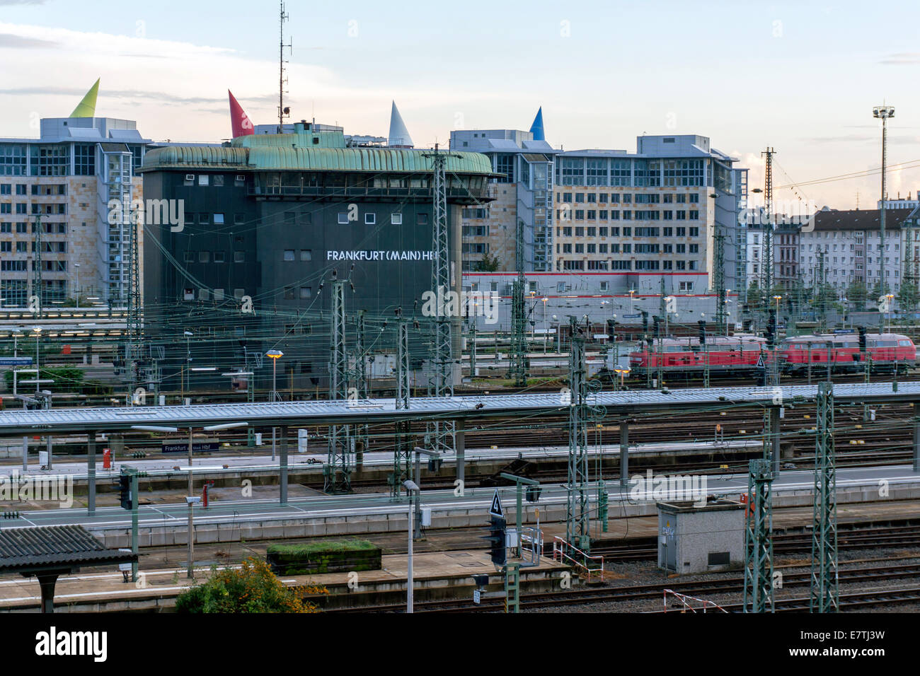Germany: Signalling control at Frankfurt's Central Station. Photo from 20. September 2014. Stock Photo