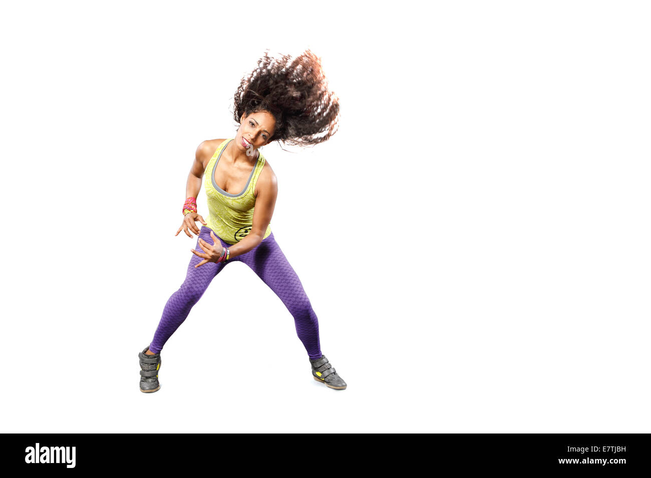 Zumba Fitness Cut Out Stock Images Pictures Alamy Dance Steps Diagram Basic Young Woman At Exercise Or Dancing Image