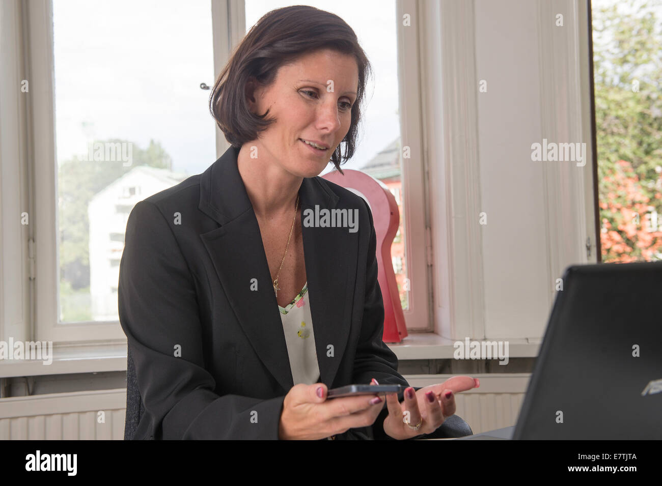 Computer trouble - Stock Image