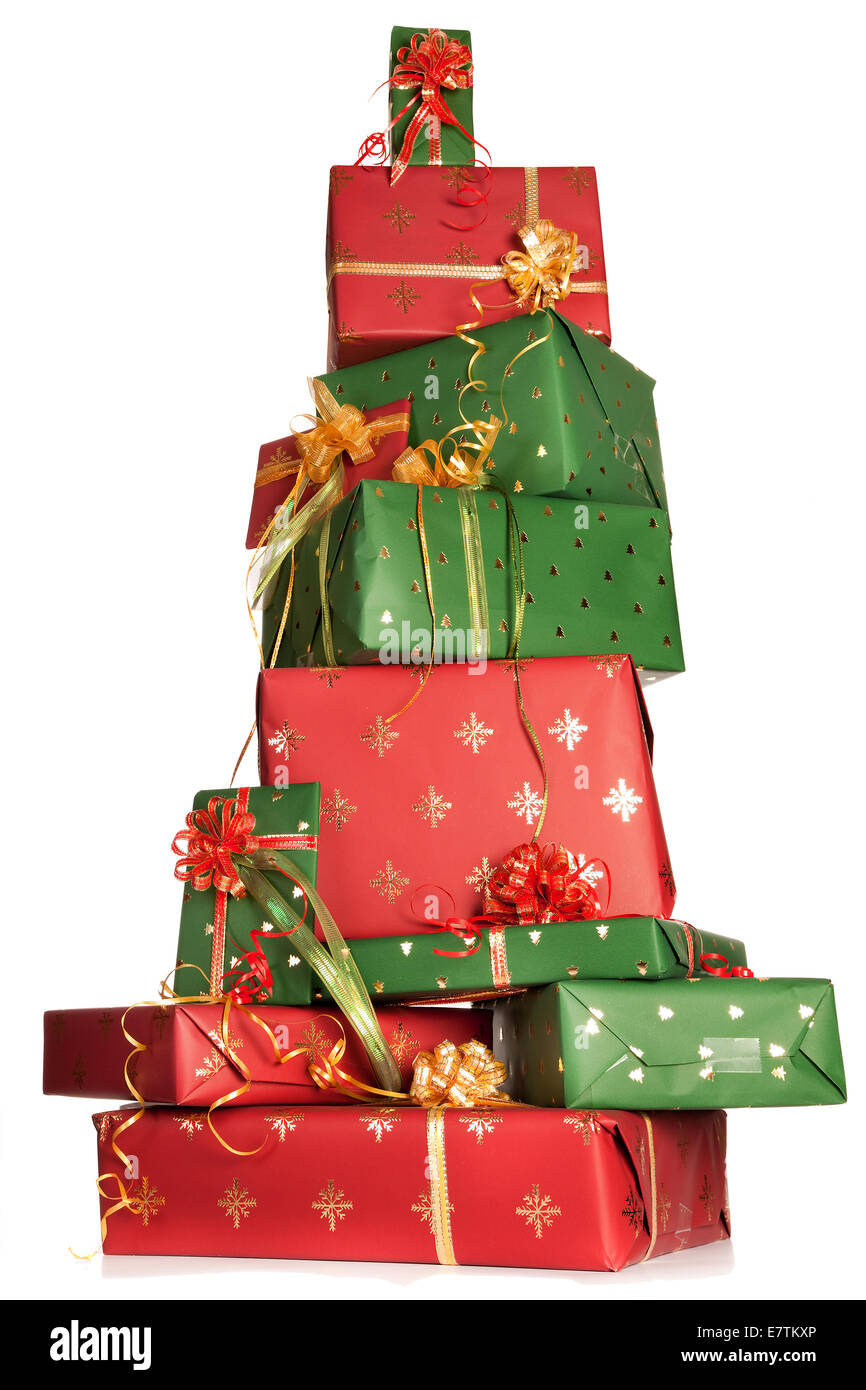 Boxes Stacked Tower Gifts Stock Photos & Boxes Stacked Tower Gifts ...