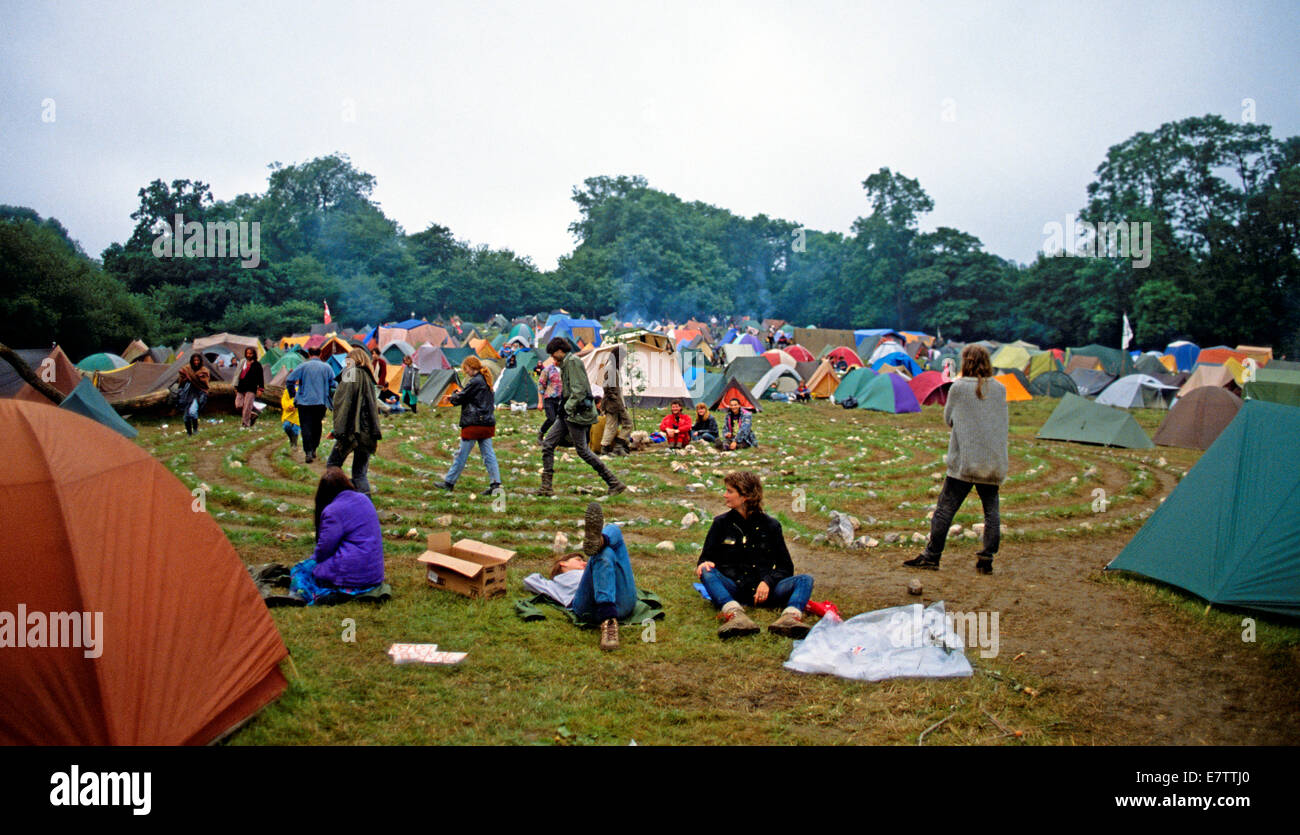 Mandala Hippie Camping At Glastonbury Festival Uk Stock Photo Alamy