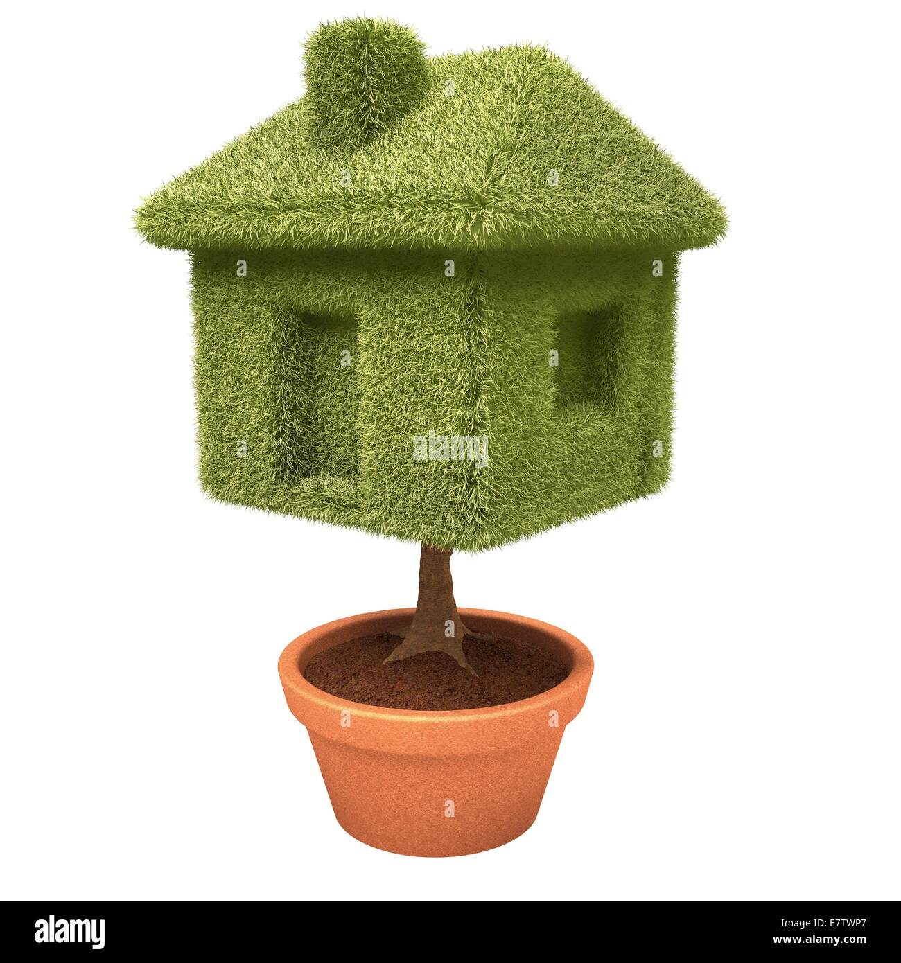 Home ownership, conceptual artwork. - Stock Image