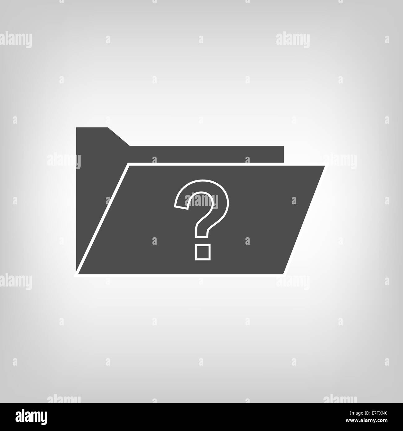Computer folder with quiestion mark - Stock Image