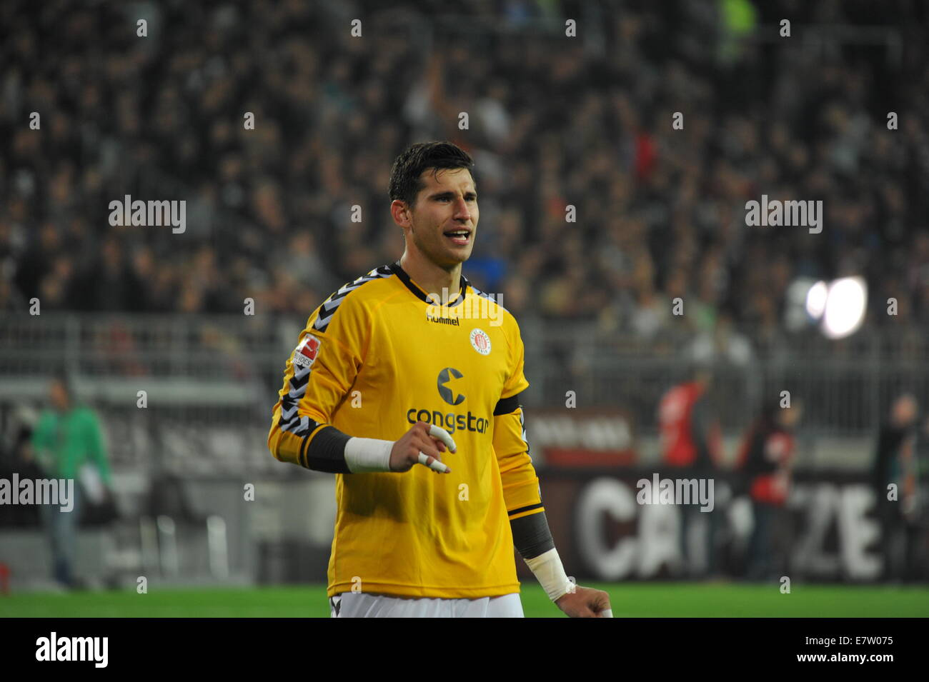 FC St. Pauli Keeper Philipp Heerwagen, DFB-Pokal, Hamburg, Germany. Editorial use only. Stock Photo