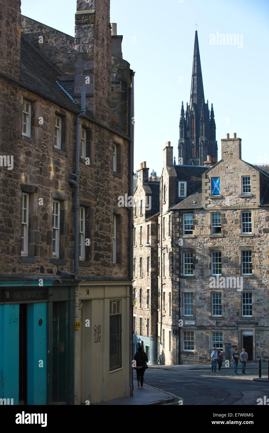 Candlemaker Row, the Old Town, Edinburgh, Scotland, United Kingdom Stock Photo