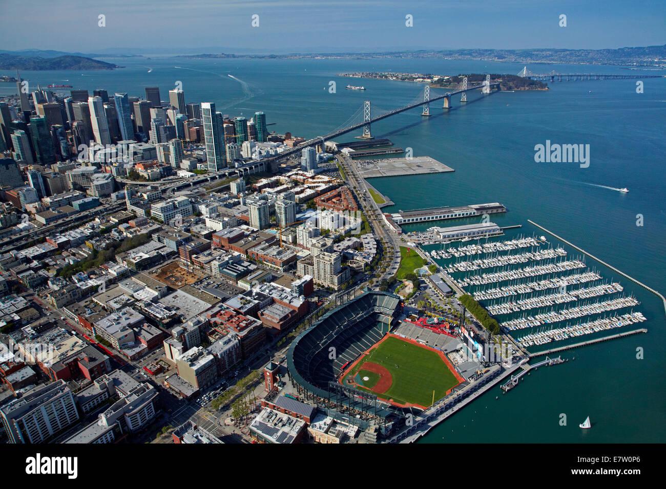 AT&T Park / Giants Ballpark, South Beach Marina, downtown San Stock