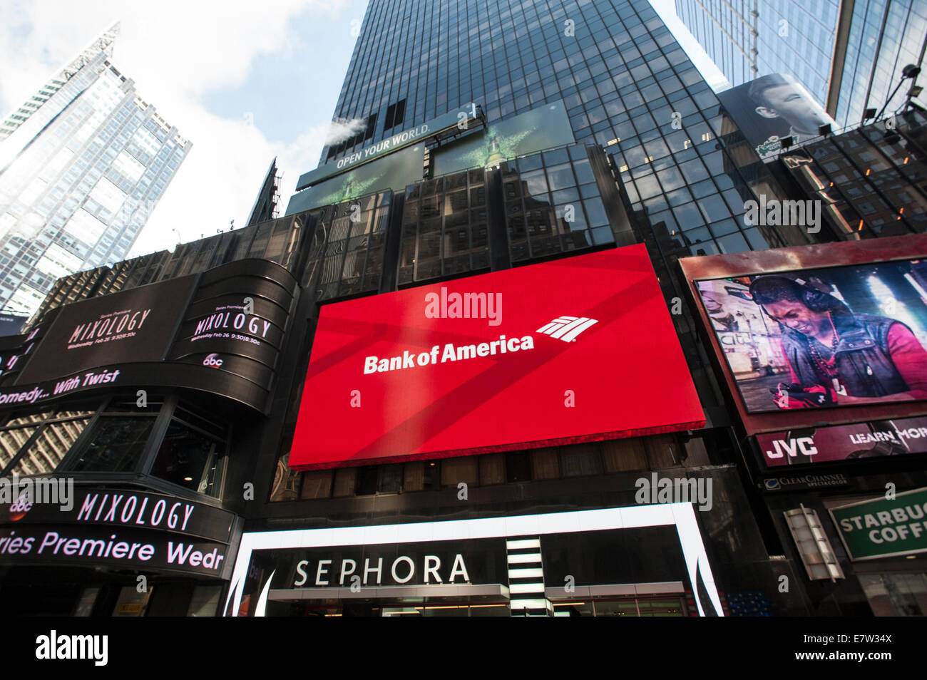 Bank of America Billboard. Times Square. NYC. - Stock Image