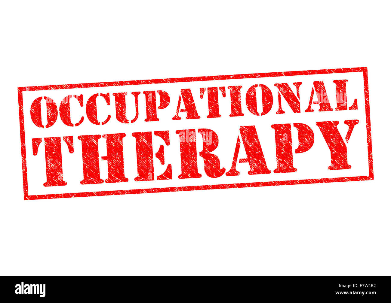 OCCUPATIONAL THERAPY red Rubber Stamp over a white background. - Stock Image