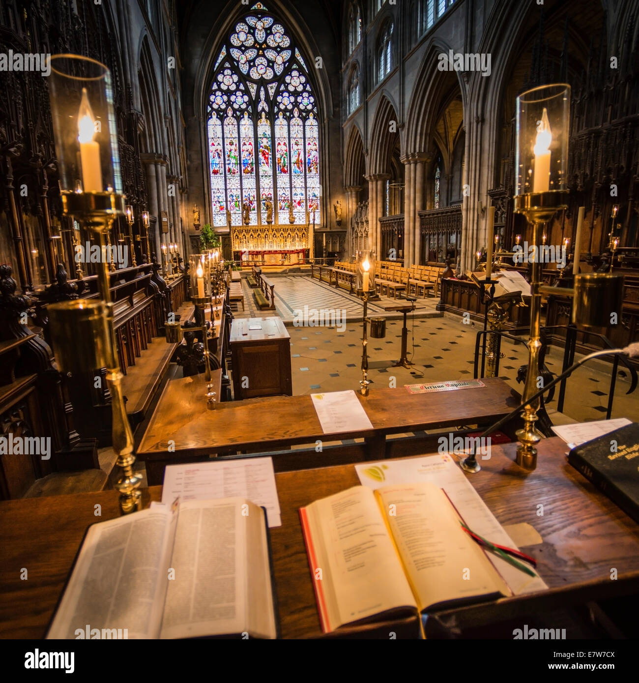 Interior of Ripon Cathedral, Yorkshire. - Stock Image