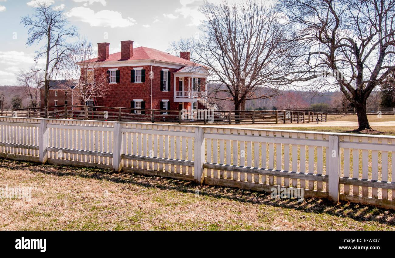 Appomattox Courthouse in Appomattox Courthouse National Historical Park, Virginia, USA - Stock Image