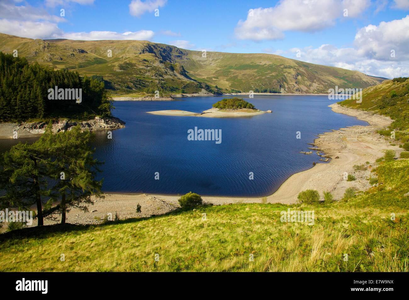 Lake District National Park, Cumbria, UK. 24th Sep, 2014. Mardale village emerges from Hawswater, Lake District - Stock Image
