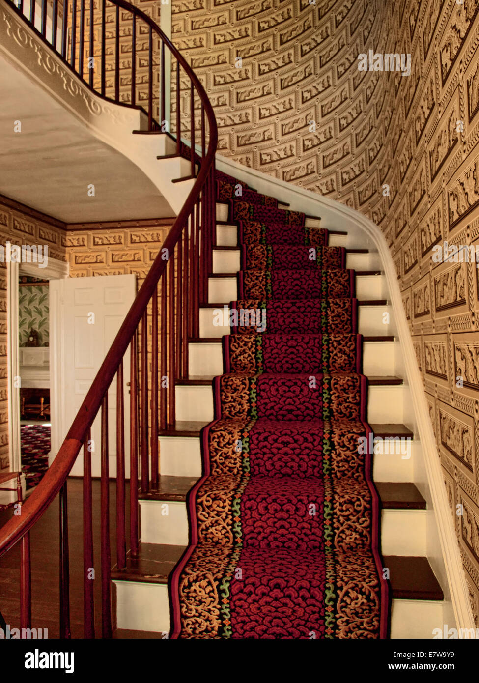 home interior with staircase - Stock Image