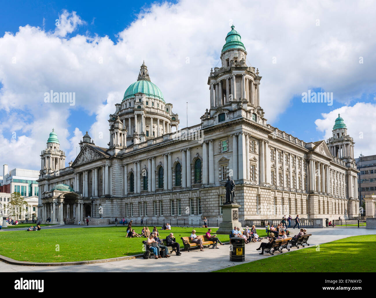 City Hall, Donegall Square, Belfast, Northern Ireland, UK - Stock Image