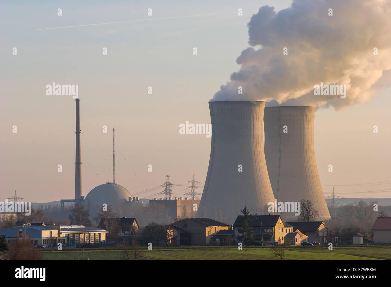 Nuclear Plant Grafenrheinfeld near Schweinfurt, Germany - Stock Image