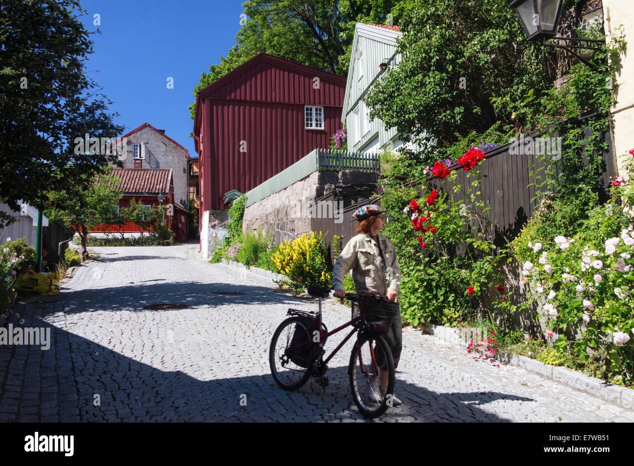 Damstredet street, Oslo, Norway - Stock Image