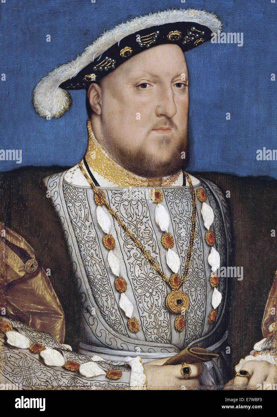 HENRY VIII by Hans Holbein the Younger about 1536 - Stock Image