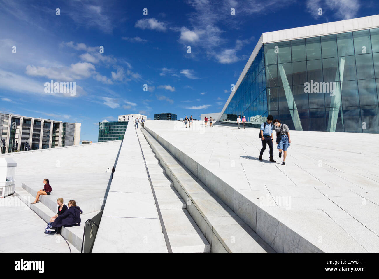 Opera Hall, Oslo, Norway - Stock Image