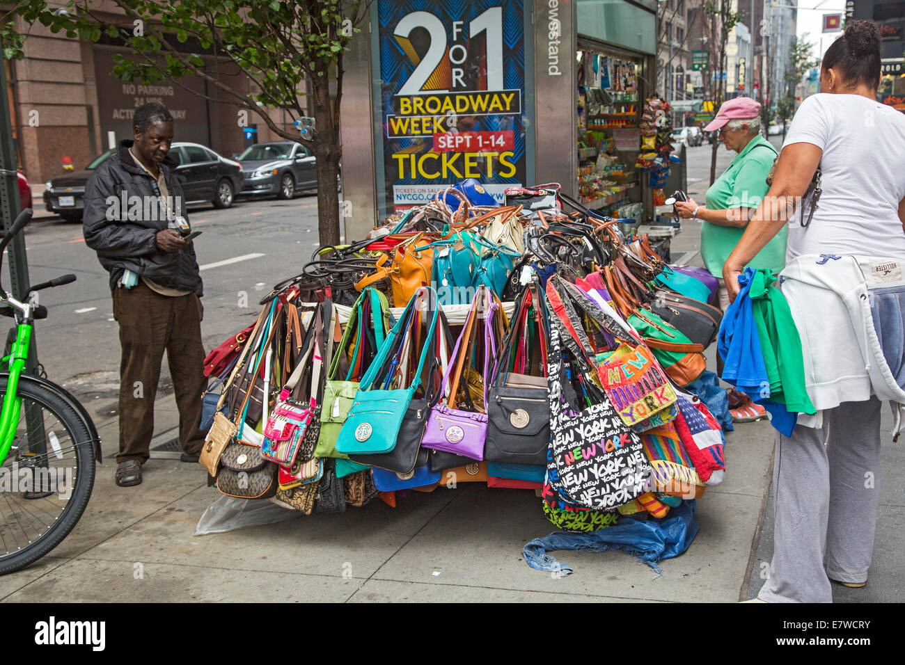 New York New York Handbags On Sale At A Street Vendor S