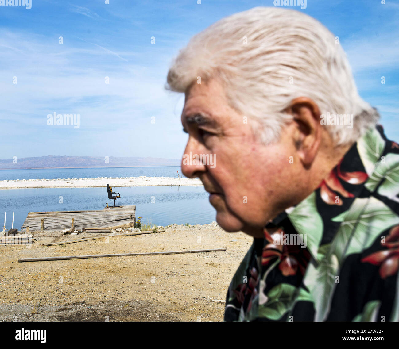salton sea ca usa 25th mar 2013 norm niver with his dock on stock photo 73703903 alamy. Black Bedroom Furniture Sets. Home Design Ideas